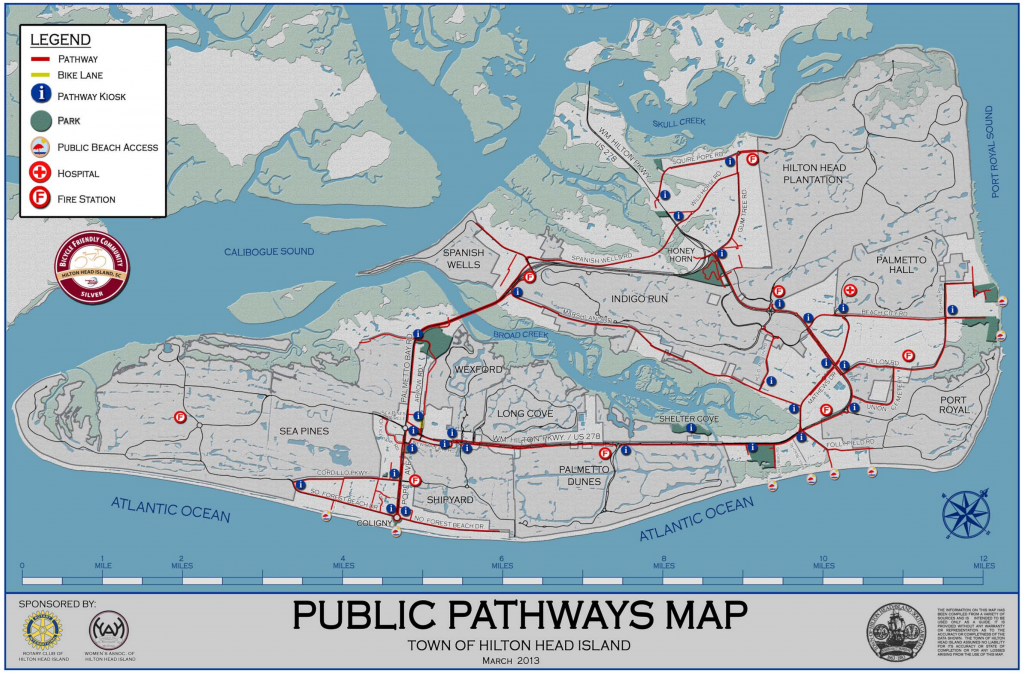 Map of Hilton Head Island Bike Paths