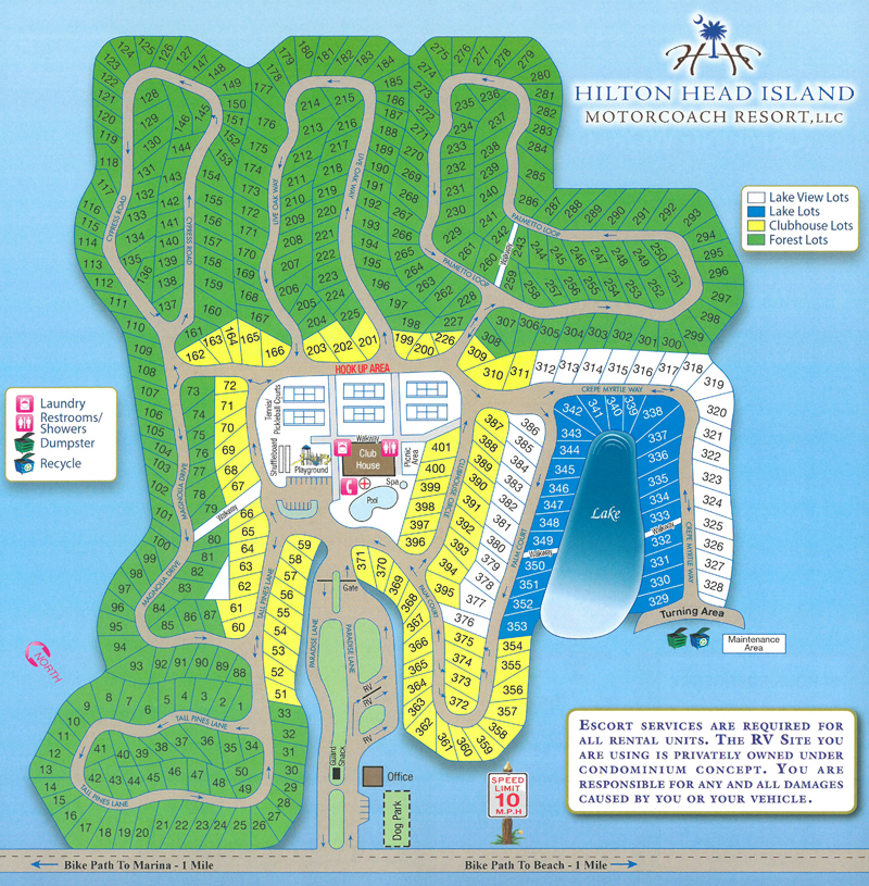 Motorcoach sites at Hilton Head Island